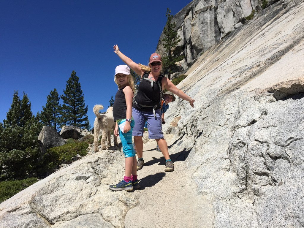 Hiking at Echo Lake, CA