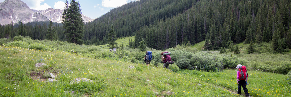 hiking and backpacking longer distances with kids