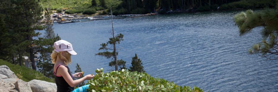 Hiking near Tahoe California