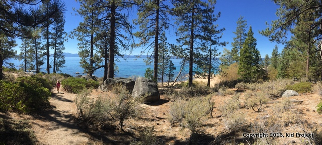Approaching Chimney Beach, Lake Tahoe