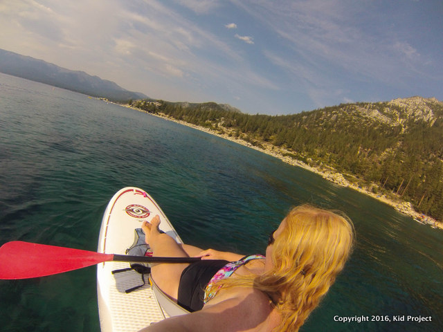 Relaxing on my SUP in Sand Harbor, Lake Tahoe