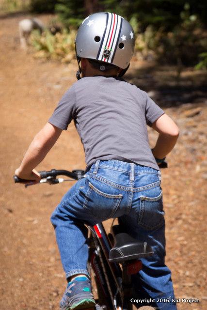 Biking the trails near home.