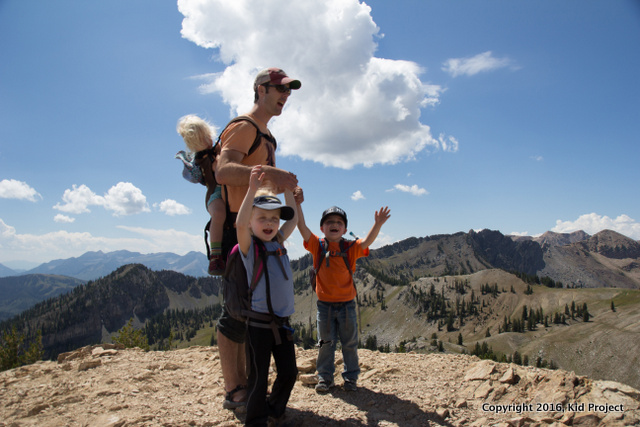 Our first summit with the kids in Utah: Sunset Peak