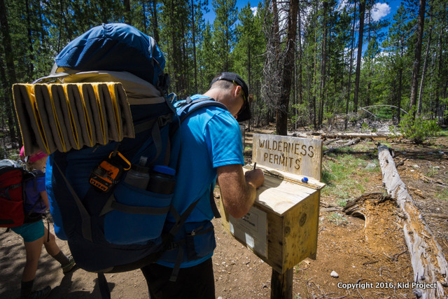grabbing wilderness permits in the sawtooths