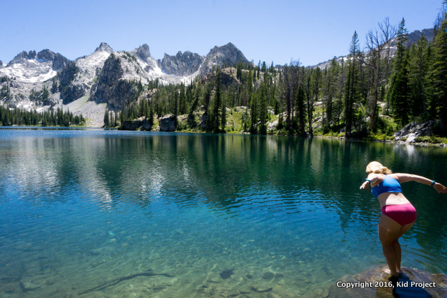 jumping in ALice LAke, Idaho