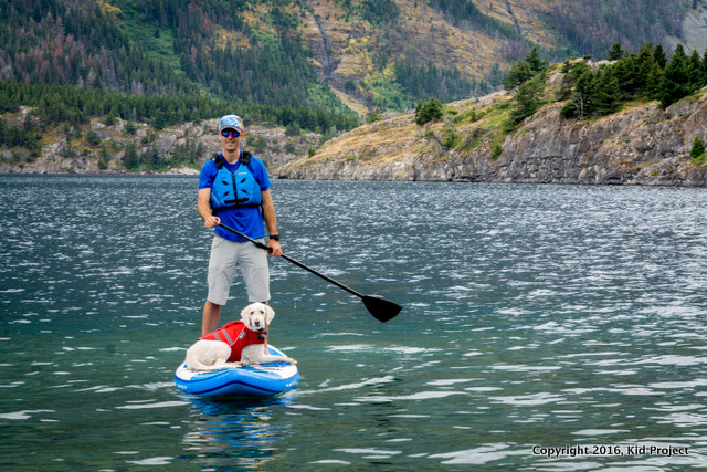 SUP in Glacier national park