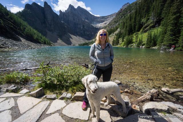 Hiking lake Louise, Banff NP