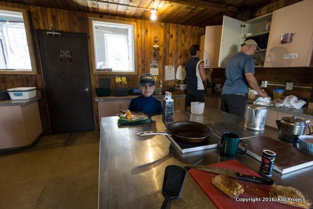 COnrad Kain Hut, Bugaboo Provincial Park - kitchen