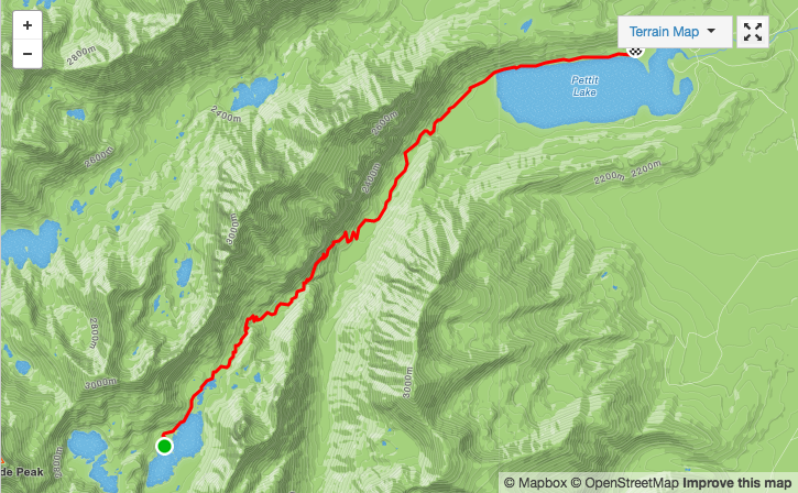 Alice to Pettit Lake map