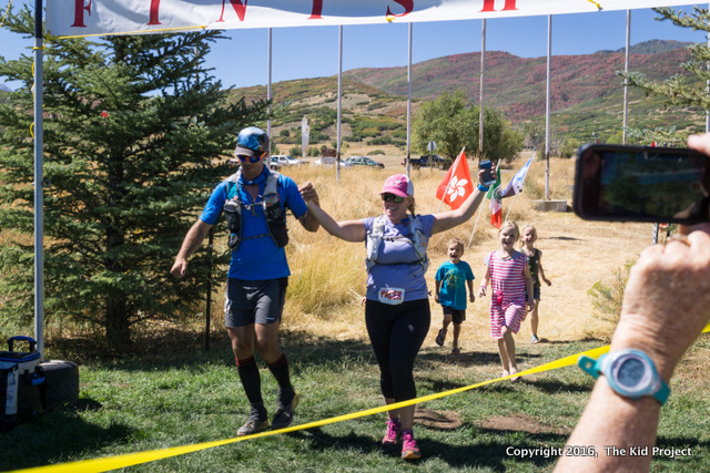 A family finish at Wasatch 100!