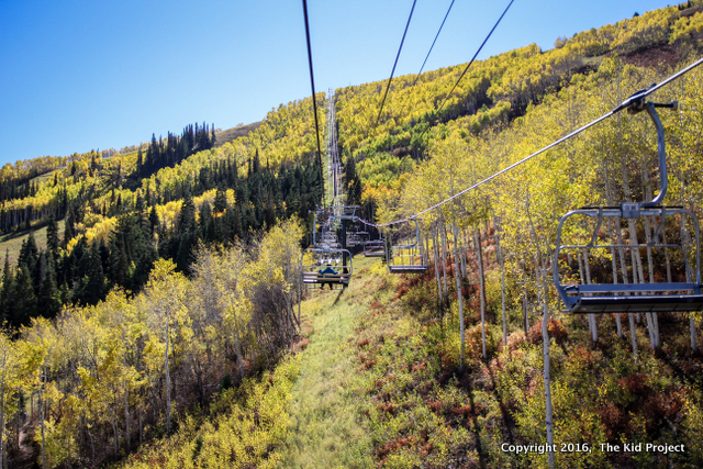 Park City Mountain Resort fall hiking