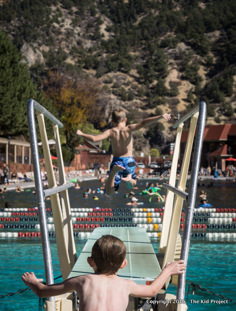 Glenwood Hot Springs, family swim, Colorado
