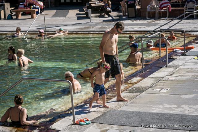 Glenwood Hot Springs, family swim, Colorado