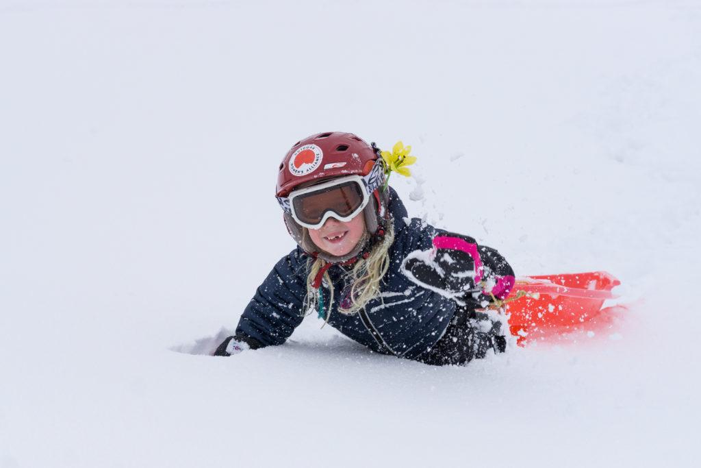 kids ski powder