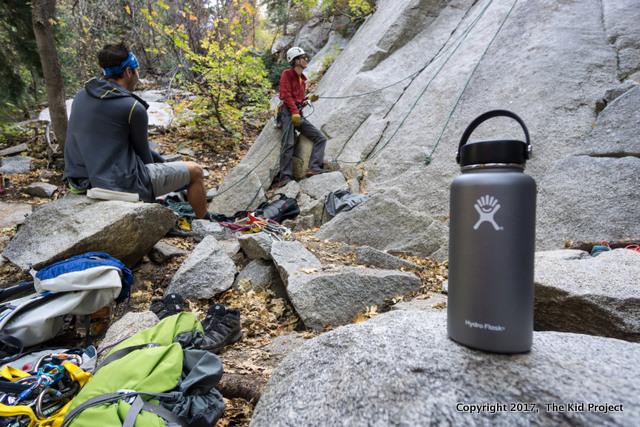 hydroflask, climbing
