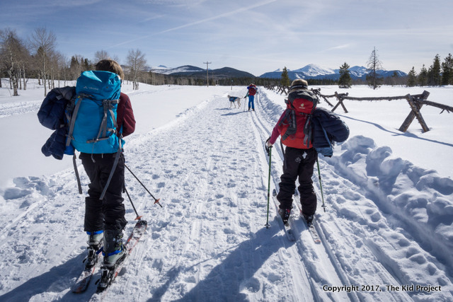 cross country skiing in Utah's Uintas