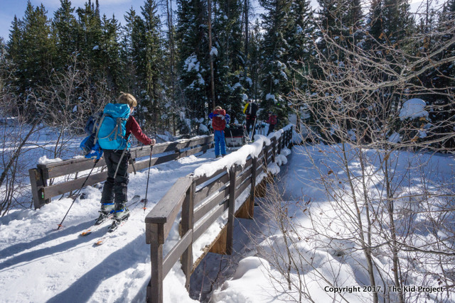 ski touring with kids- uintas