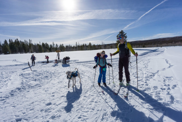 family yurt trip, winter ski
