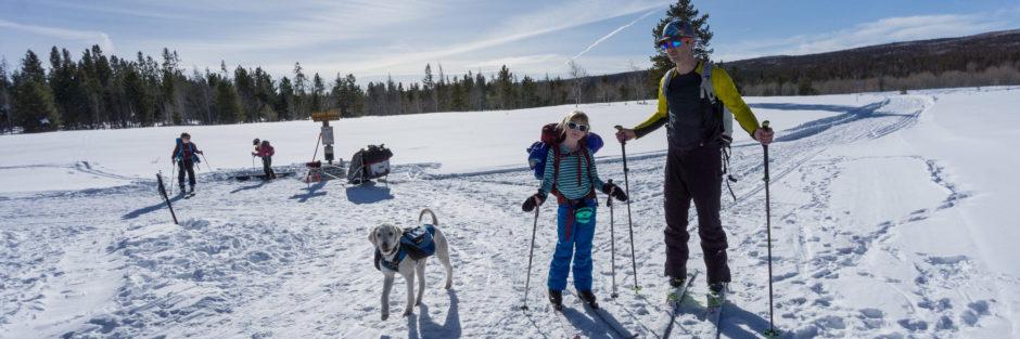 family yurt trip, winter ski