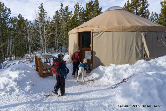 yurt trip with kids
