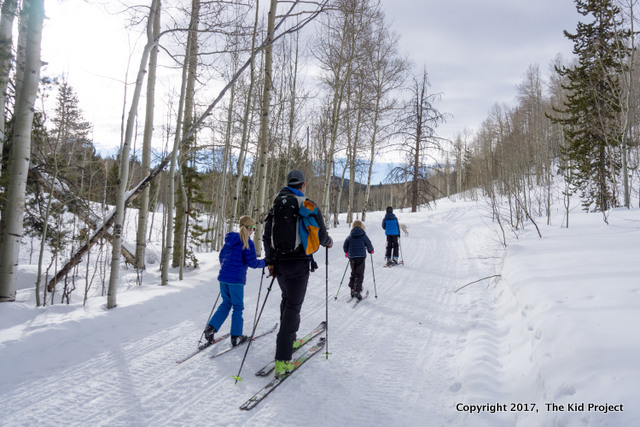 ski touring kids