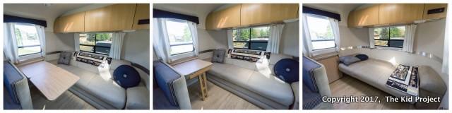 Airstream Safari sleeping and desk