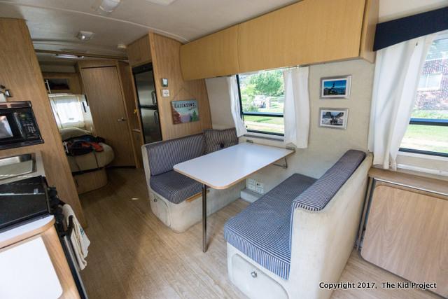 Airstream Safari dining