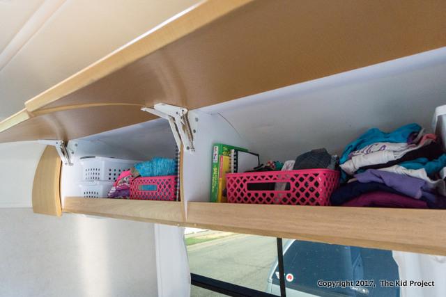Airstream Safari overhead storage