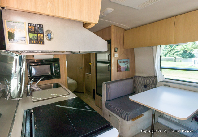 Airstream Safari entry and kitchen