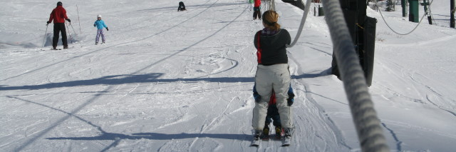 Rope Tow with kids at Alta ski resort