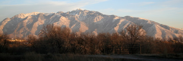 wasatch range, sunset