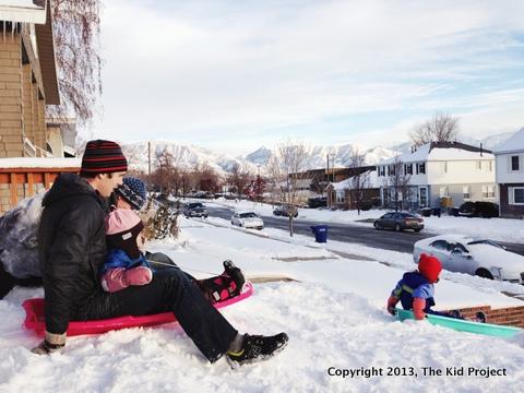 Stonz Bootz for sledding with kids