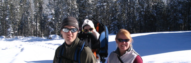 Tips for snowshoeing with a baby
