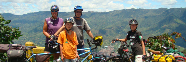 family in andes, Biking the PanAM
