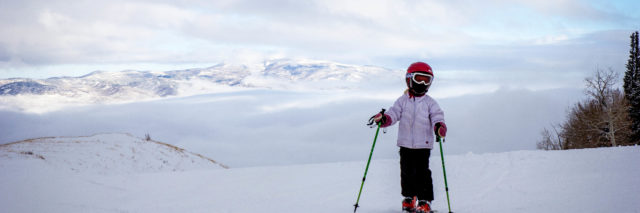 Ski with kids, child boot fitting, ski boots