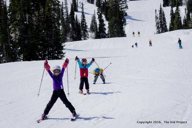 ski with kids