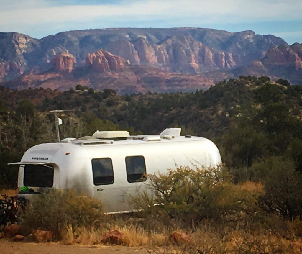 Airstream camping near Sedona, AZ