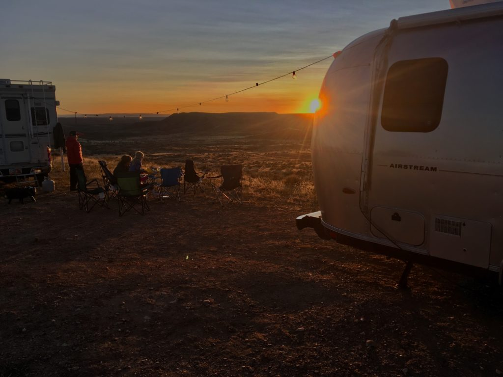 Sunset while camping in Vernal, UT