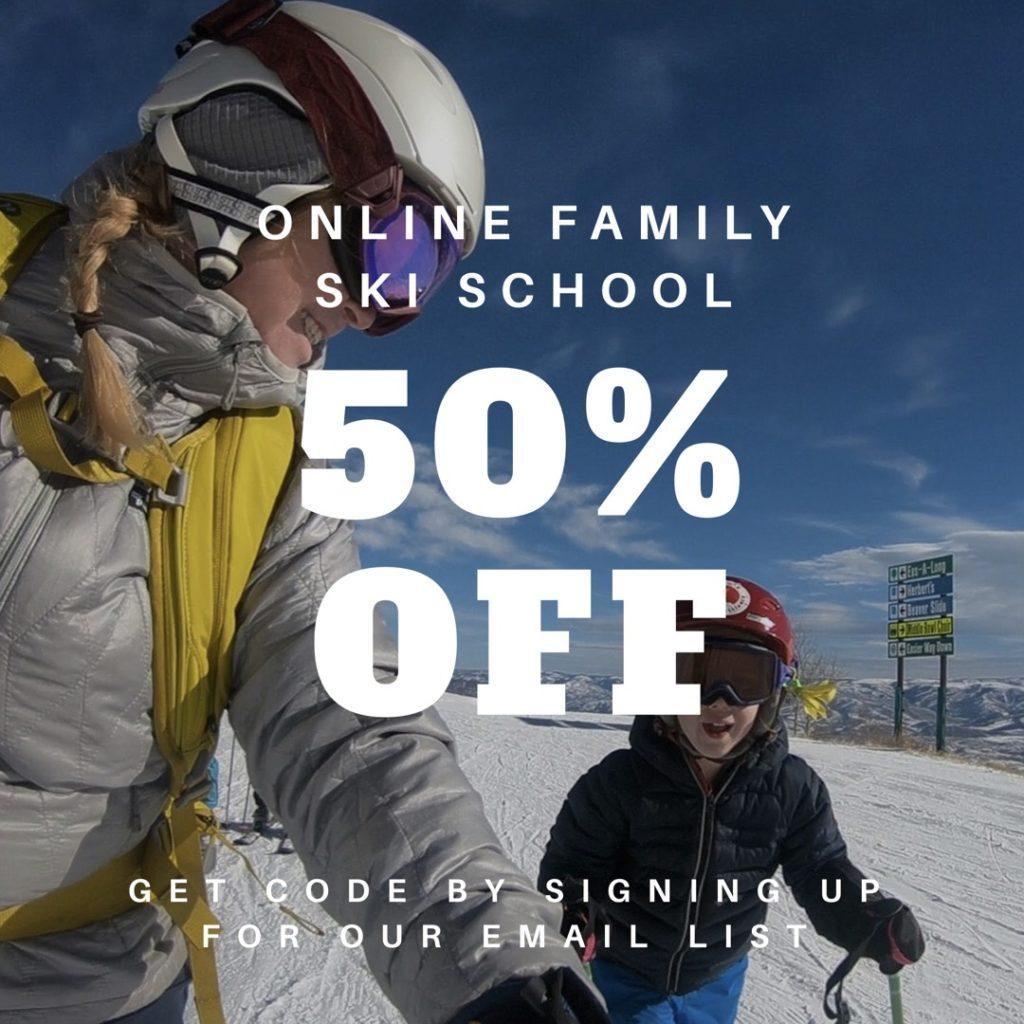 50% off online family ski school