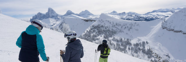 family skiing grand targhee