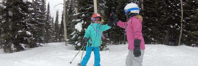 kids ski snowboard Targhee vacation